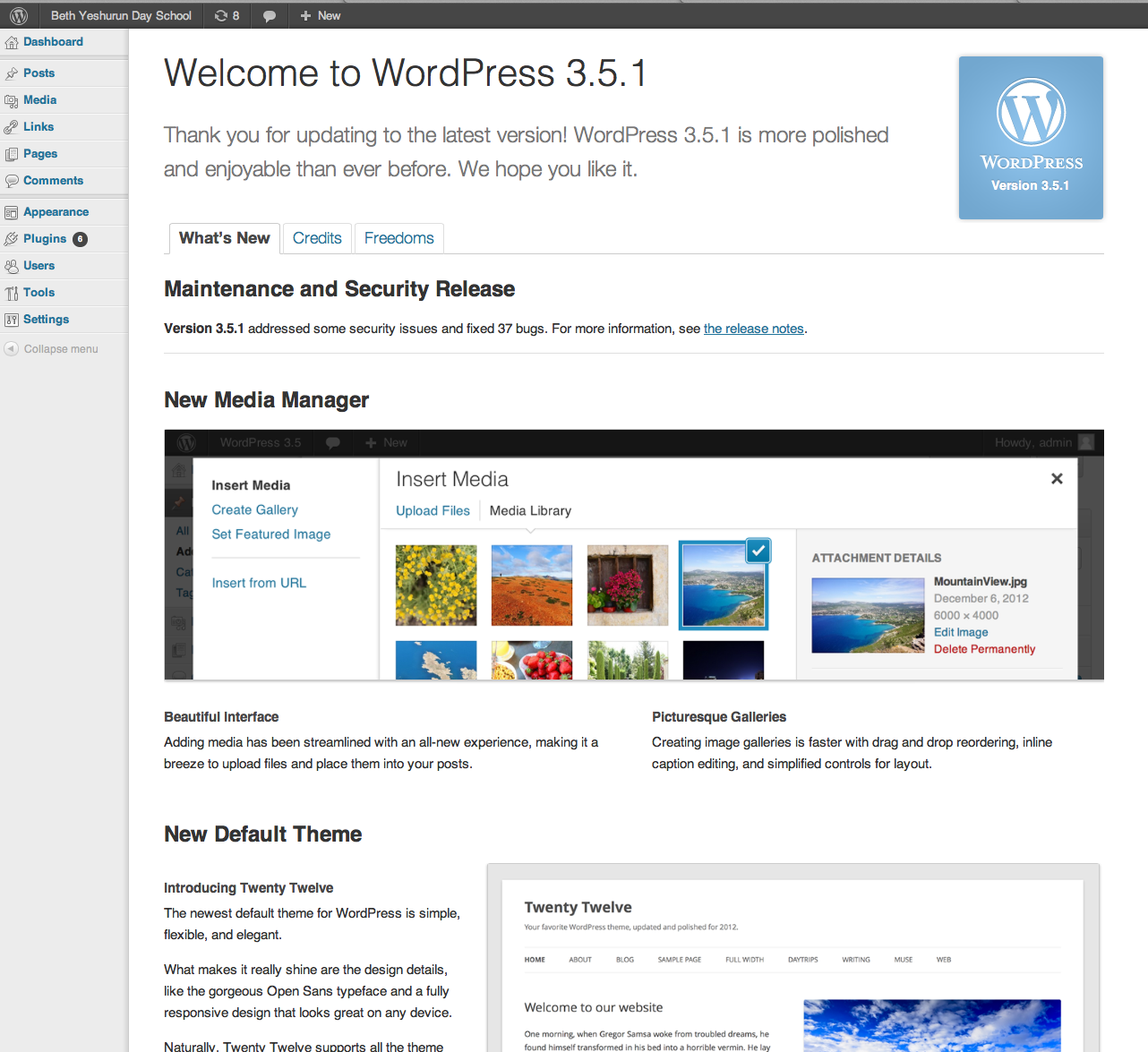 WordPress 3.5.1 updates are cool!