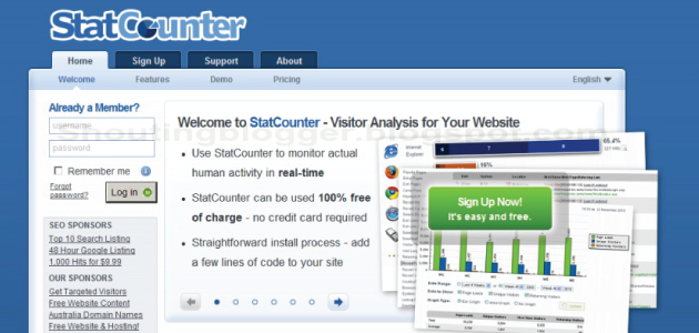 How to use Statcounter