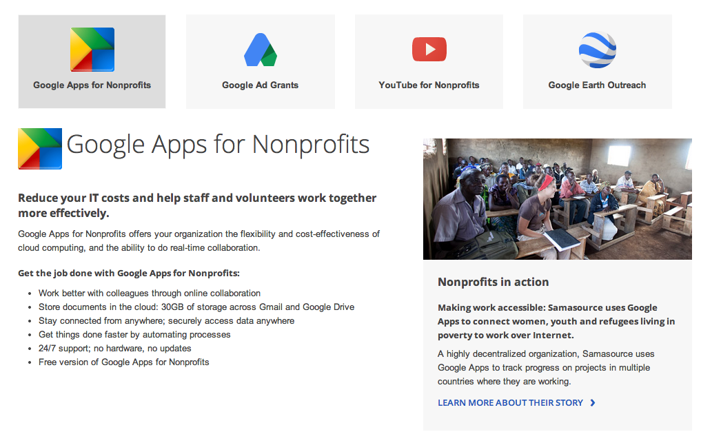 Adwords for nonprofits through Google Ad Grants