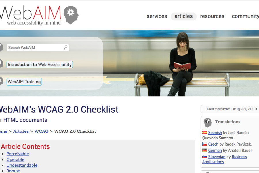 Website Checklist for Section 508 Compliancy
