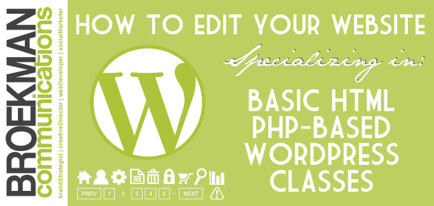 BROEKMAN extension classes – How to edit your website!