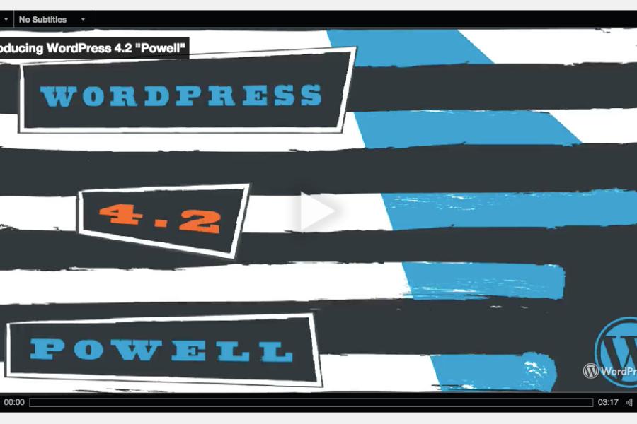WordPress 4.2.1 core features