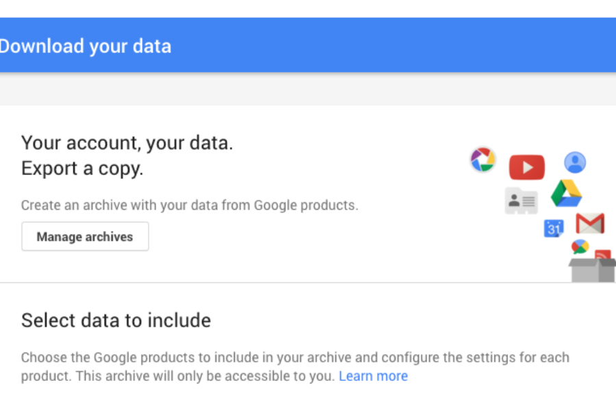 Guide to Backing up Google Apps, Mail, Drive, Calendars and Contact