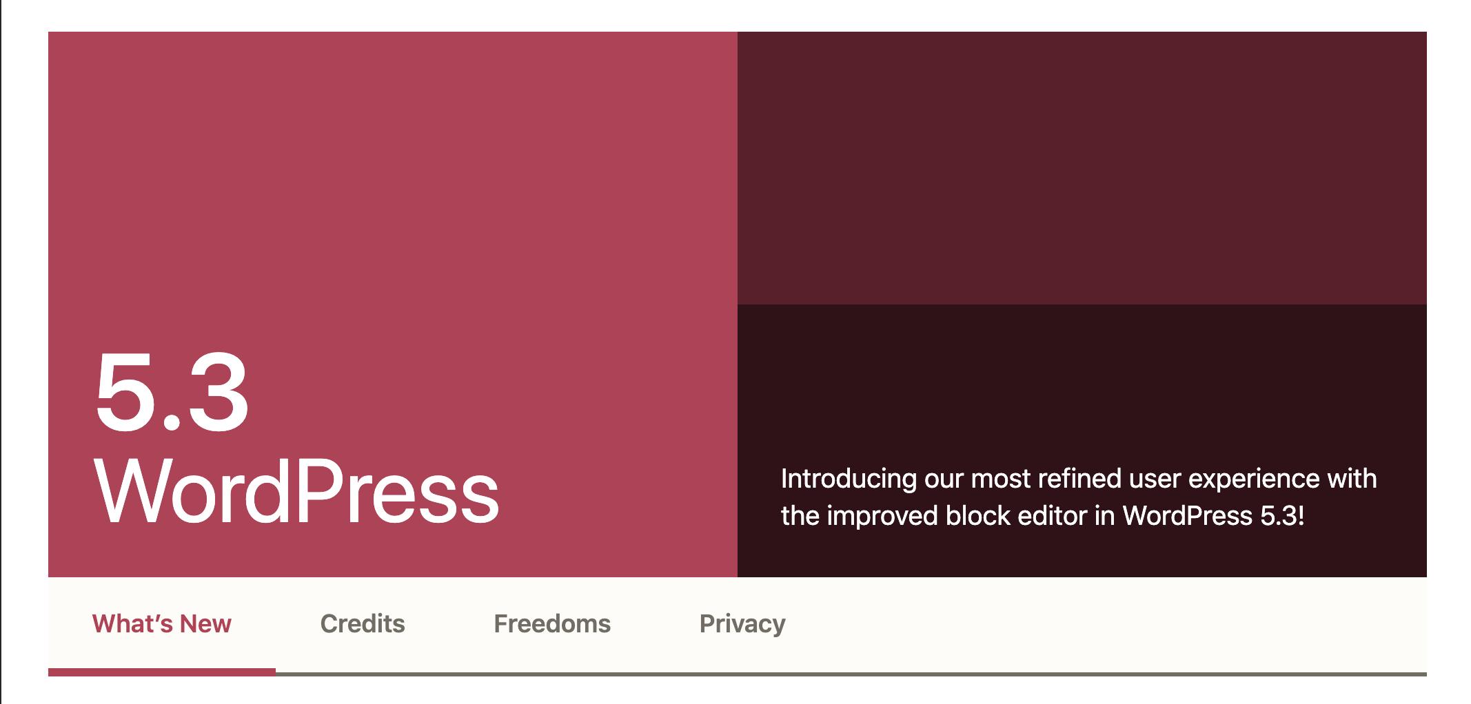 Wow, welcome WordPress 5.3!