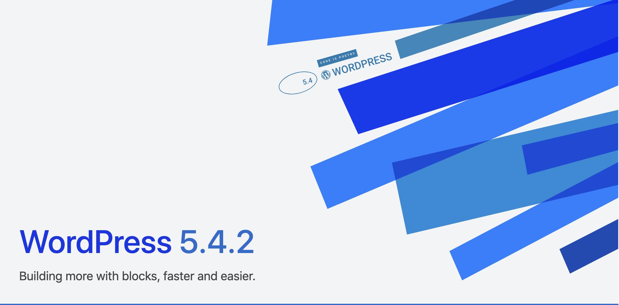 WordPress5.4.2 – What's new!